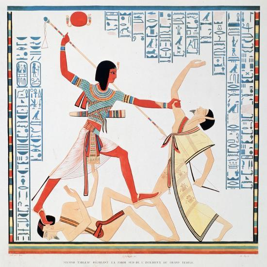 Second Scene on the Southern Wall of the Interior of the Great Temple at Abu Simbel, 1888-A Racinet-Giclee Print