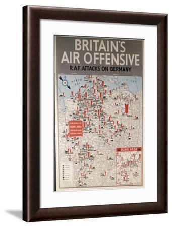 Second World War - Britain's Air Offensive Raf Attacks on Germany--Framed Giclee Print