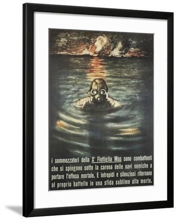 Second World War - Propaganda Poster--Framed Giclee Print