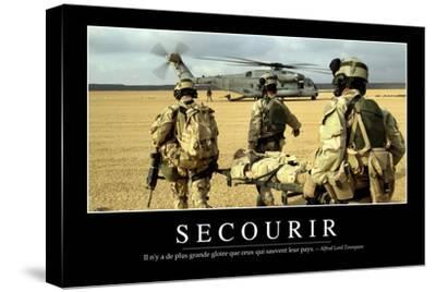 Secourir: Citation Et Affiche D'Inspiration Et Motivation