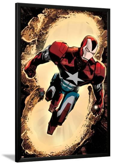 Secret Avengers #3 Cover: Iron Patriot-Tomm Coker-Lamina Framed Poster
