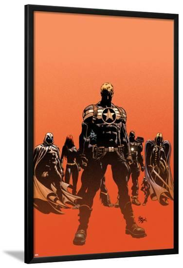 Secret Avengers No.12.1 Cover: Steve Rogers, Moon Knight, Black Widow, War Machine, and Valkyrie-Mike Deodato-Lamina Framed Poster