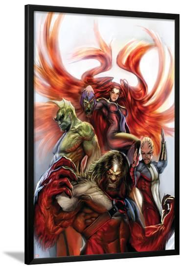 Secret Invasion: Inhumans No.3 Cover: Medusa, Gorgon, Karnak and Triton-Stjepan Sejic-Lamina Framed Poster