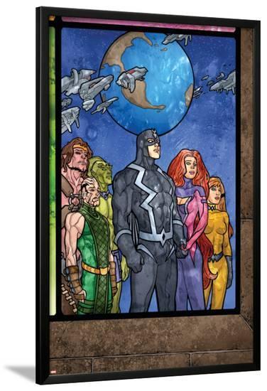 Secret Invasion: Inhumans No.4 Group: Black Bolt, Medusa, Karnak, Gorgon, Crystal and Triton-Tom Raney-Lamina Framed Poster