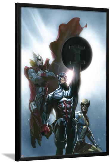 Secret Invasion No.8 Cover: Captain America, Wolverine and Thor-Gabriele DellOtto-Lamina Framed Poster