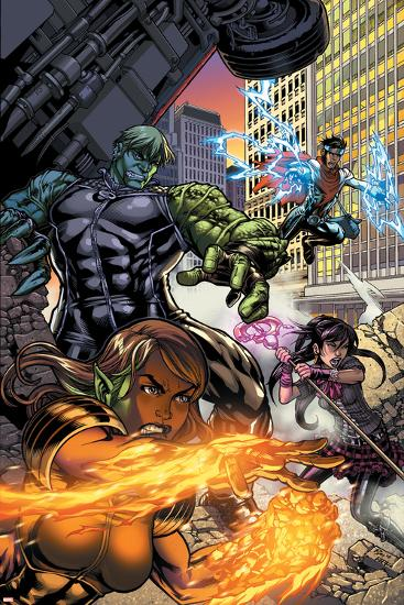 Secret Invasion: Runaways/Young Avengers No.1 Cover: Hulkling and Wiccan-Michael Ryan-Art Print