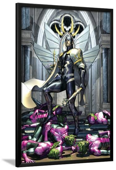 Secret Invasion: War Of Kings No.1 Cover: Black Bolt-Brandon Peterson-Lamina Framed Poster