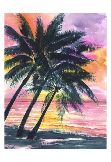 Secret Island Sunrise-Anne Ormsby-Art Print
