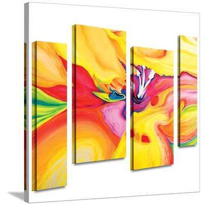 Secret Life of Lily 4 piece gallery-wrapped canvas-Susi Franco-Gallery Wrapped Canvas