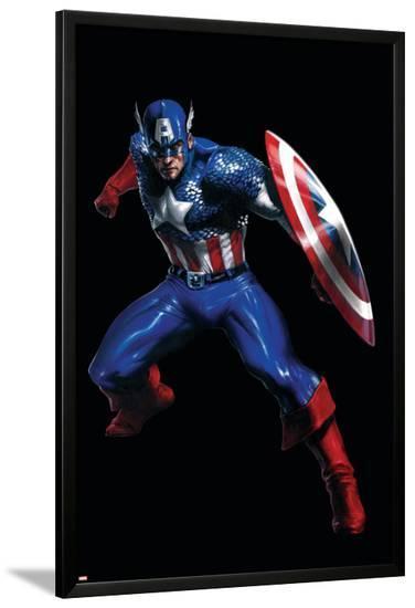 Secret War No.3 Cover: Captain America--Lamina Framed Poster