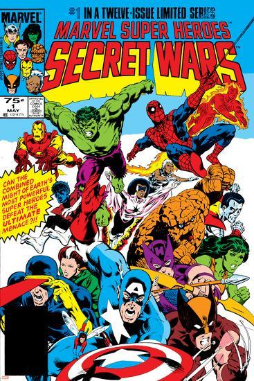 Secret Wars No.1 Cover: Captain America-Mike Zeck-Art Print