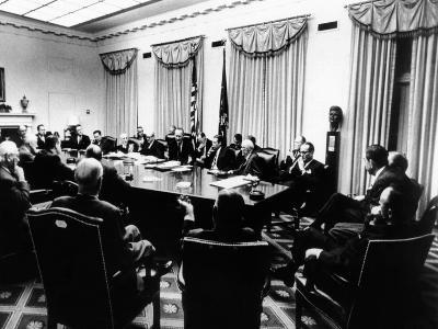 Secret White House Meeting About Resuming the Bombing of North Vietnam--Photo