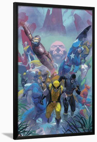 Secrets Of The House Of M Cover: Wolverine-Esad Ribic-Lamina Framed Poster