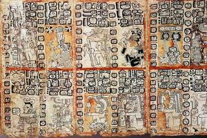 Section from the Mayan Troano Codex, 15th Century