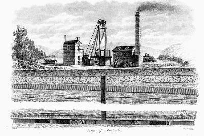 Section of a Coal Mine, 1860-Thomas Dick-Giclee Print