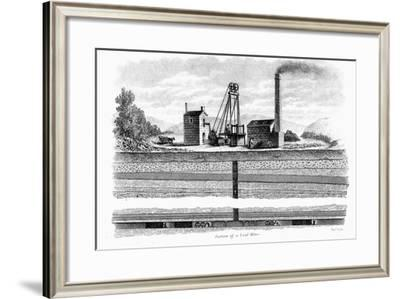 Section of a Coal Mine, 1860-Thomas Dick-Framed Giclee Print