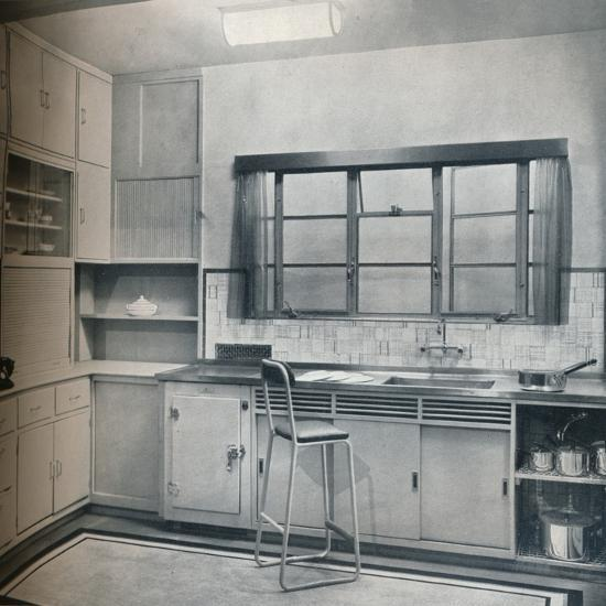 Section of a small kitchen, designed by Mrs Darcy Braddell, 1935-Unknown-Photographic Print