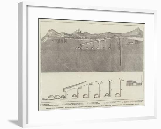 Section of Dr Macpherson's Recent Excavations and Researches on Mons Mithridates--Framed Giclee Print