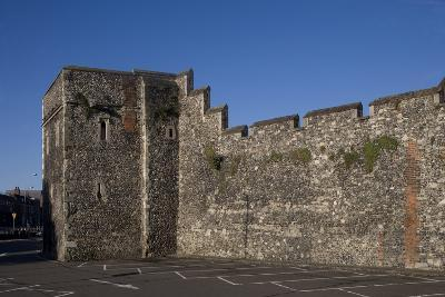 Section of Medieval City Walls, Canterbury, Kent, United Kingdom--Photographic Print
