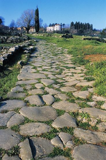 Section of Paved Road, Vetulonia Necropolis, Tuscany, Italy, Etrusco-Roman Civilization--Giclee Print