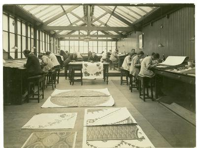 Section of the Designing Room, Carpet Trades, 1923-English Photographer-Photographic Print