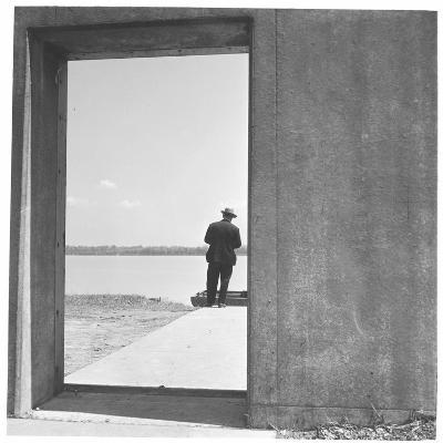 Section of Twelve Foot, Three Mile Concrete Wall with Bulkhead Opening-Walker Evans-Photographic Print