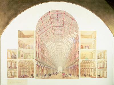 Section Perspective of the Proposed Great Victorian Way, circa 1854-Sir Joseph Paxton-Giclee Print
