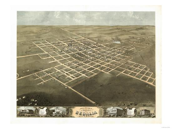 Sedalia, Missouri - Panoramic Map-Lantern Press-Art Print