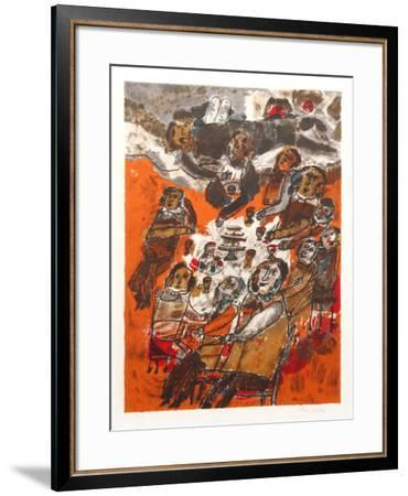 Seder-Theo Tobiasse-Framed Limited Edition