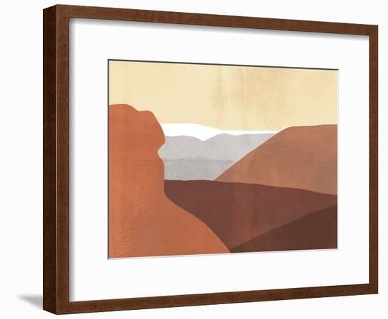 Sedona Colorblock I-Victoria Borges-Framed Art Print