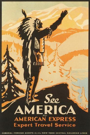 See America Travel Poster--Art Print