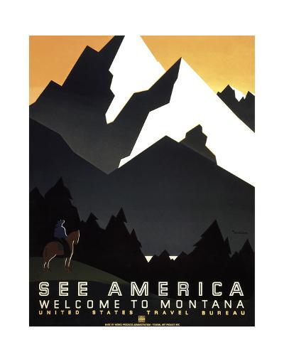 See America - Welcome to Montana II--Giclee Print