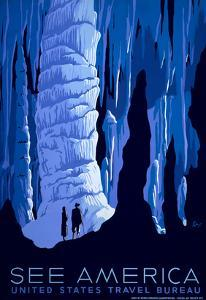 See American Travel Poster, Caverns