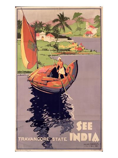 see India', 1938 (Colour Litho)-English-Giclee Print