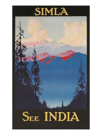 See India, Travel Poster for Simla--Art Print