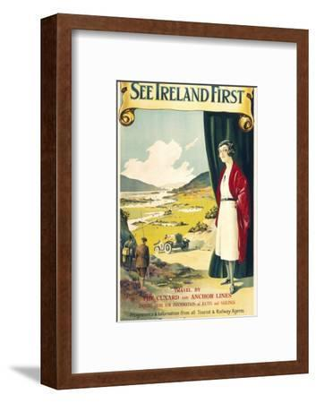 See Ireland First Travel Poster--Framed Giclee Print