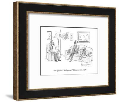 """'See Spot run.' 'See Spot run'? Who wrote this crap?"" - New Yorker Cartoon-Danny Shanahan-Framed Premium Giclee Print"