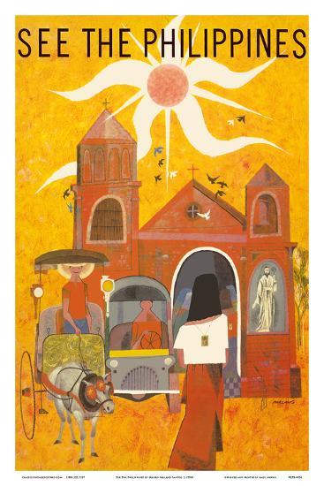 See The Philippines San Augustin Church Manila Art Print By Mauro Malang Santos Art Com