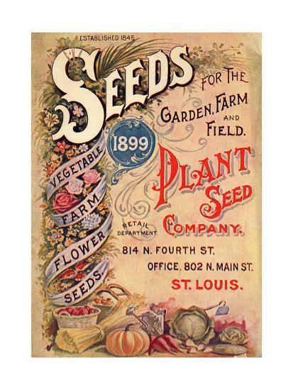 Seed Catalog Captions (2012): Plant Seed Company, St. Louis, Missouri--Art Print