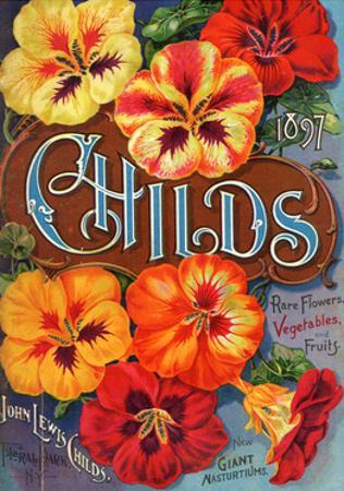 Seed Catalogues: John Lewis Childs, Rare Flowers, Vegetables, and Fruits. Floral Park, NY, 1897