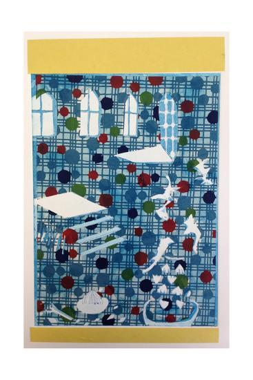 Seeing Dots, 2015, Aquatint Etching with Chine-Coll?-Rose Electra Harris-Giclee Print