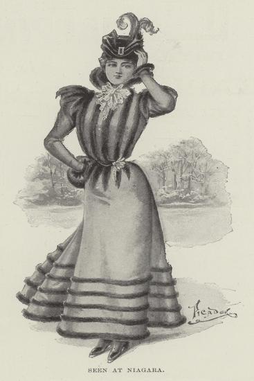 Seen at Niagara--Giclee Print