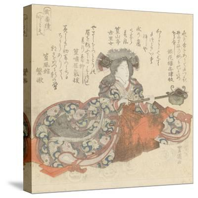 Segawa Kikunojô as Tomoe Gozen, c.1825-29-Utagawa Toyokuni-Stretched Canvas Print