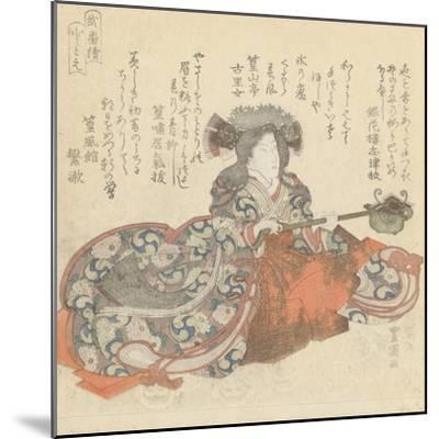 Segawa Kikunojô as Tomoe Gozen, c.1825-29-Utagawa Toyokuni-Mounted Giclee Print