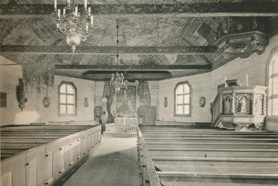 'Seglora Church,Skansen Open Air Museum, Stockholm', 1925-Unknown-Photographic Print