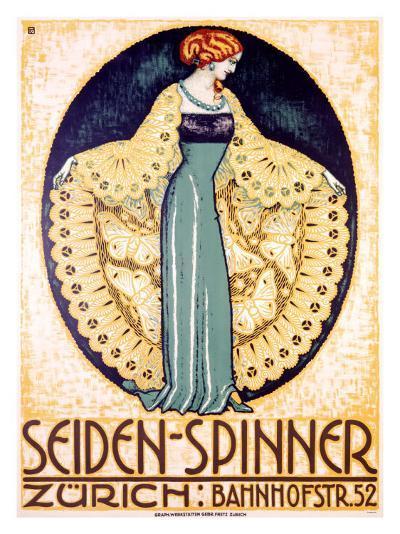 Seiden-Spinner, Zurich--Giclee Print
