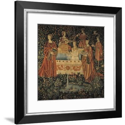 Seigneurial Bath, C1500--Framed Giclee Print