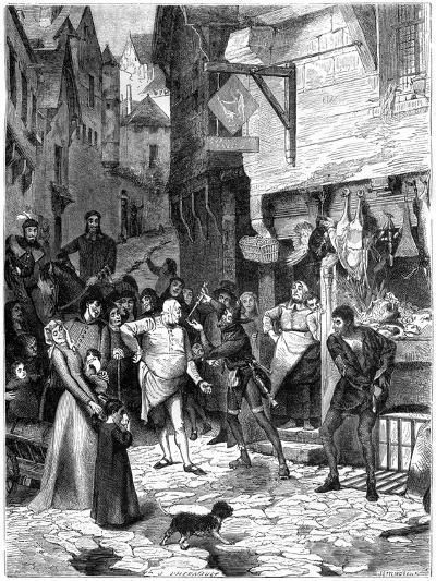 Seigni Joan, Rue De Petit Chastelet, France, 14th Century (1882-188)-J Ettling-Giclee Print