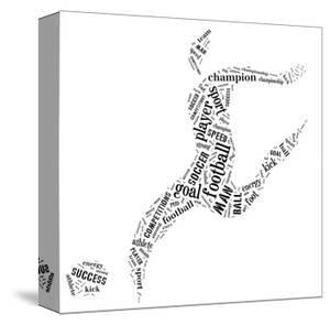 Football Player Pictogram With Black Color Words On White Background by seiksoon