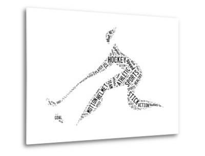 Hockey Pictogram With Black Words